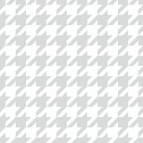 Houndstooth seamless grey and white vector pattern