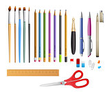 Set include pens ana pencils