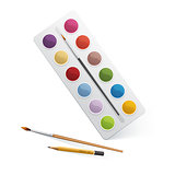 Palette for watercolor paint