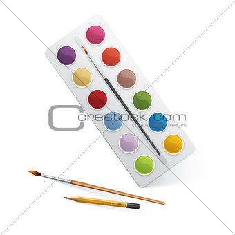 Palette for watercolor paint
