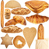 Collection of various fresh bakery