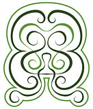 Vector pattern. green tint ornament. tattoo style