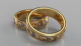 Pair of golden rings