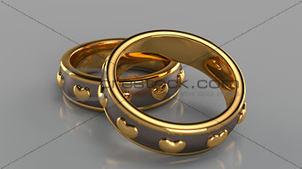 Pair of golden rings
