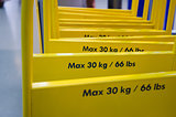 Maximum weight yellow trolley