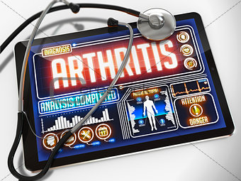 Arthritis on the Display of Medical Tablet.