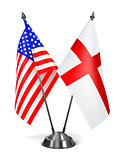 USA and England - Miniature Flags.