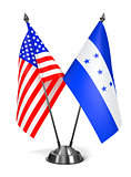 USA and Honduras - Miniature Flags.