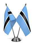 Botswana - Miniature Flags.