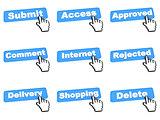 Set Blue Color Web Button.