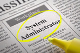 System Administrator Jobs in Newspaper.
