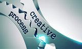 Creative Process Concept on the Cogwheels.