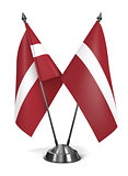 Latvia - Miniature Flags.