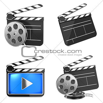 Cinema and Video Media Industry Concept.