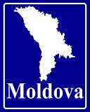 silhouette map of Moldova