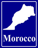 silhouette map of Morocco