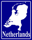 silhouette map of Netherlands