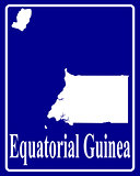 silhouette map of Equatorial Guinea