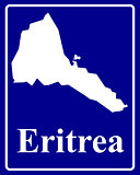 silhouette map of Eritrea