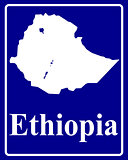 silhouette map of Ethiopia