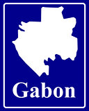 silhouette map of Gabon