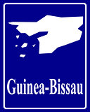 silhouette map of Guinea-Bissau