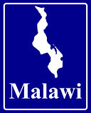 silhouette map of Malawi