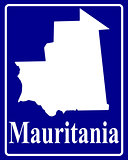 silhouette map of Mauritania