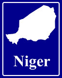 silhouette map of Niger