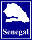 silhouette map of Senegal