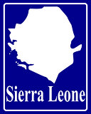 silhouette map of Sierra Leone