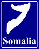 silhouette map of Somalia
