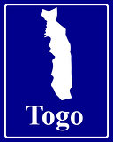 silhouette map of Togo