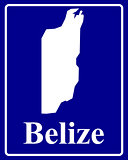 silhouette map of Belize