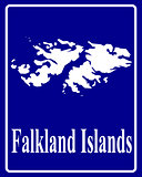 silhouette map of Falkland Islands