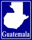 silhouette map of Guatemala