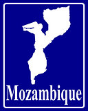 silhouette map of Mozambique