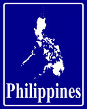 silhouette map of Philippines