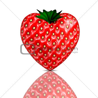 3D render of a strawberry