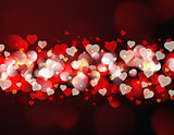 Heart bokeh light background