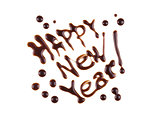 Happy New Year, modern-style inscription, can be used as a label