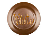 Chocolate sauce patches background, isolated