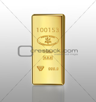 gold bar on gray gradient background