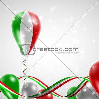 Flag of Italy on balloon