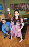 Intense Pregnant Woman