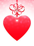 Red Heart and Bow