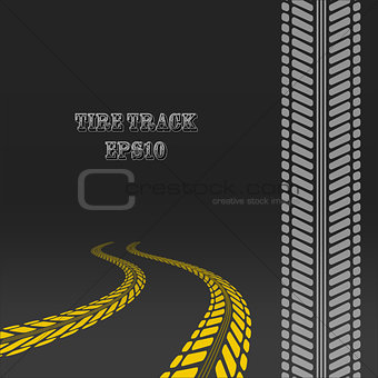 Tire track with perspective and template for tire brush.