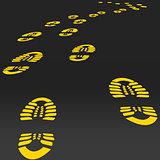 Footstep vector.