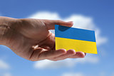 Small Ukrainian flag