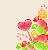 Holiday background with candy